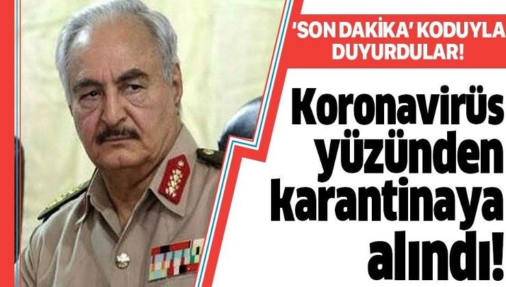 Darbeci Hafter'in sözcüsüne koronavirüs karantinası!.