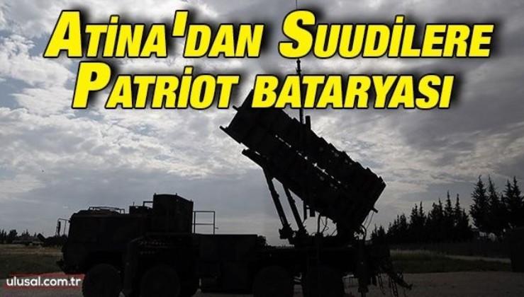 Atina'dan Suudilere Patriot bataryası