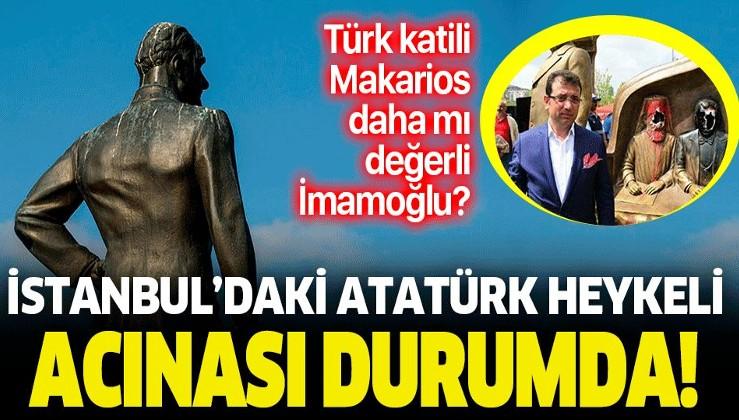 İstanbul Sarayburnu'nda bulunan Atatürk heykelinin bakımsız kalması tepki çekti