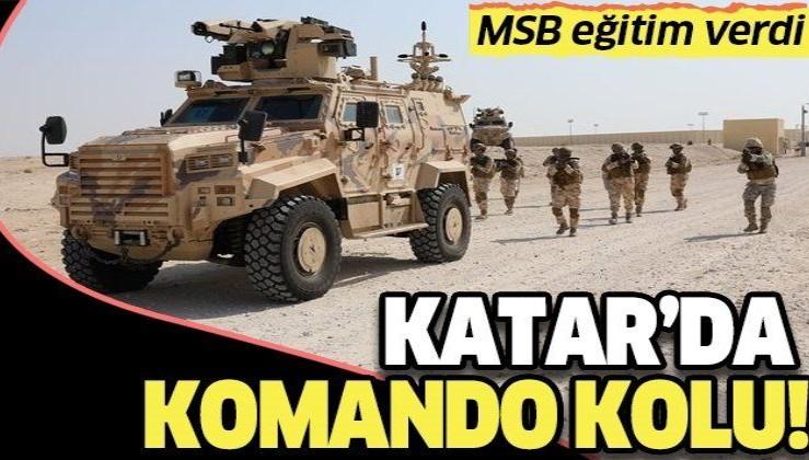 Milli Savunma Bakanlığından Katar Özel Kuvvetler Komutanlığı'na 'Komando Kolu' eğitimi