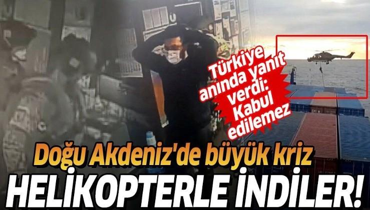 Son dakika: Türk gemisine hukuk dışı arama! Alman askerleri Libya'ya giden Türk kargo gemisine çıktı!