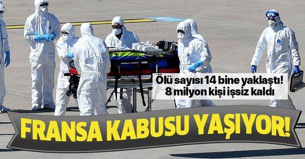 Son dakika: Fransa'da koronavirüsten ölenlerin sayısı 13 bin 832'ye yükseldi
