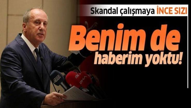Muharrem İnce: CHP'nin cumhurbaşkanı adayıydım ortak anayasa çalışmasından haberim yoktu