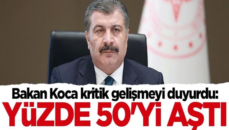 Bakan Fahrettin Koca duyurdu: Yüzde 50'yi geçti