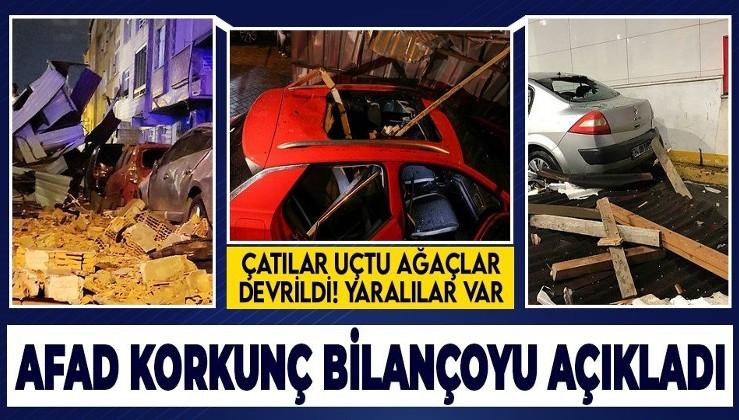 İstanbul'da şiddetli fırtına sonrası çatılar uçtu ağaçlar devrildi! AFAD İstanbul'da fırtınanın bilançosunu açıkladı