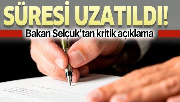 Son dakika: Bakan Zehra Zümrüt Selçuk açıkladı:
