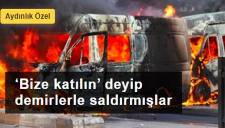 Kobani eylemlerinde zarar görenler anlattı: 'Bize katılın' deyip demirlerle saldırmışlar