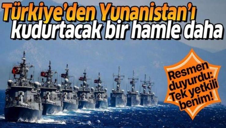 Türkiye'den Yunanistan'ı kudurtacak bir hamle daha! Resmen duyurdu: Tek yetkili benim!