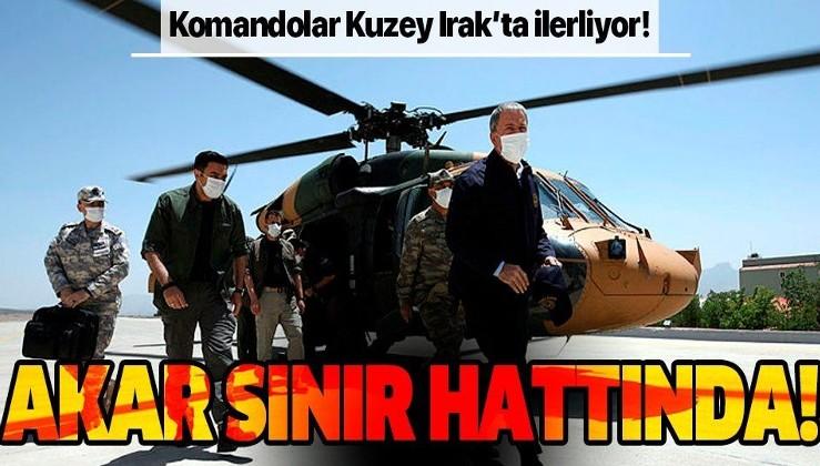 Milli Savunma Bakanı Hulusi Akar sınır hattında!