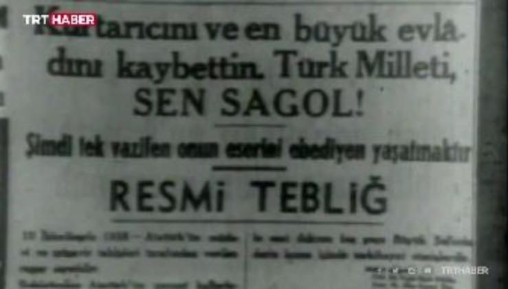 Ankara Radyosu'nda bir spiker ağlayarak verdi haberi, tüm ülkede hayat durdu.