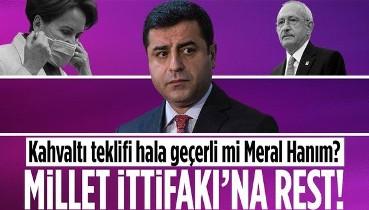 Terörden tutuklu HDP eski Eş Genel Başkanı Selahattin Demirtaş'tan Millet İttifakı'na rest!