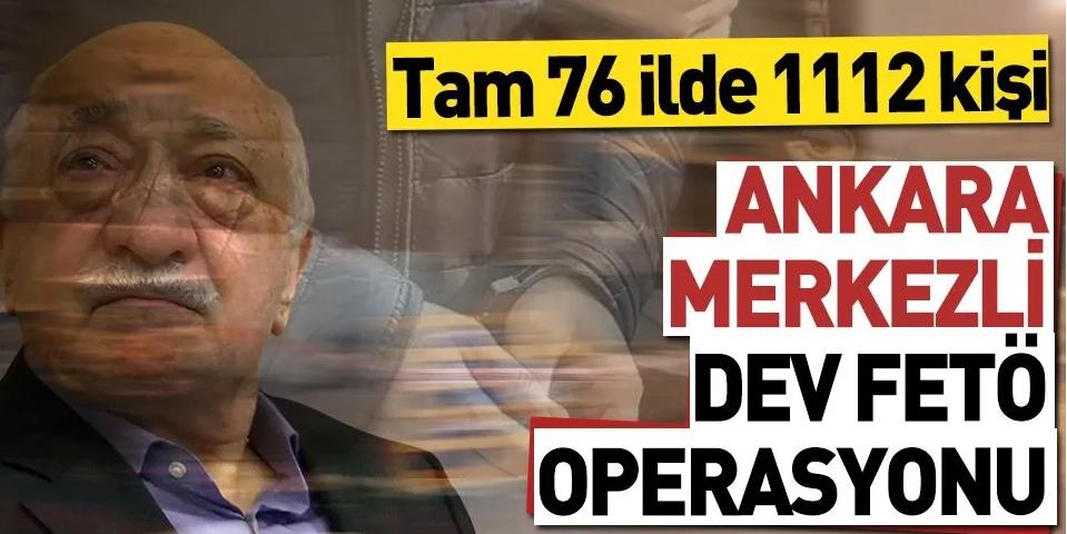 Dev operasyon; 76 ilde 1112 gözaltı