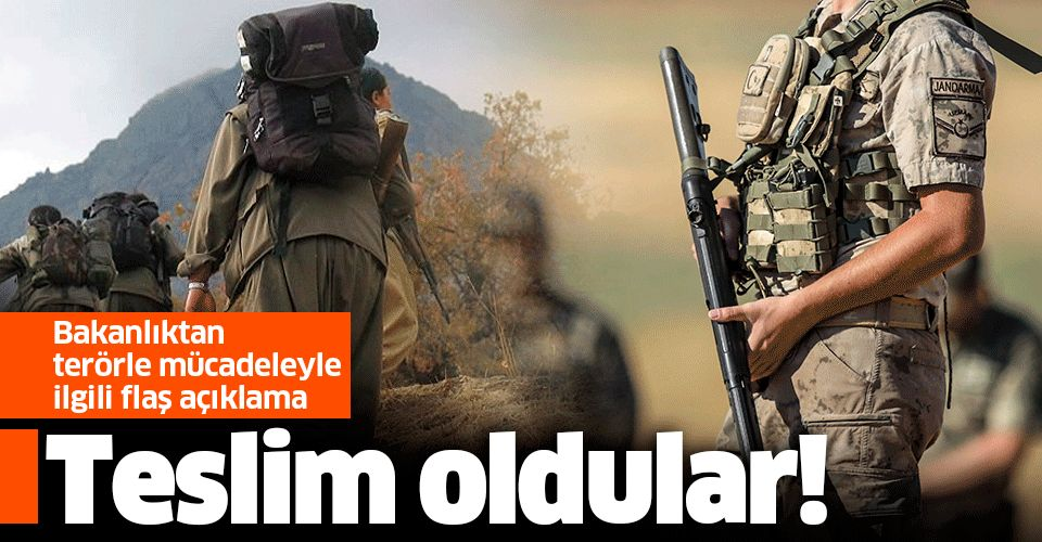 İçişleri Bakanlığı açıkladı: 4 terörist güvenlik güçlerine teslim oldu!.