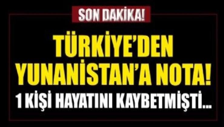 SON DAKİKA! Türkiye'den Yunanistan'a nota
