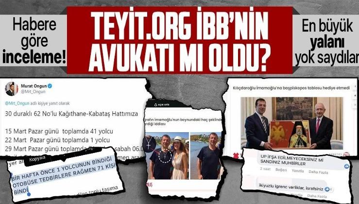 Teyit.Org İBB'nin avukatlığını mı yapıyor? İmamoğlu'nun ve İBB sözcüsünün yalanlarını görmezden geldiler