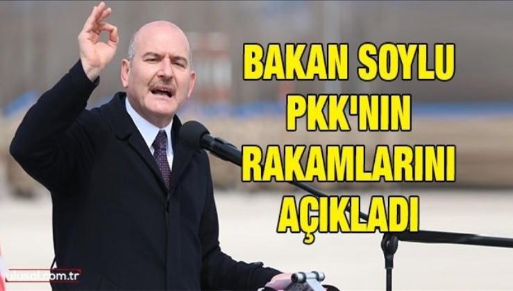 Bakan Soylu PKK'nın rakamlarını açıkladı
