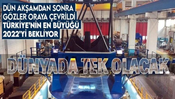 Türkiye'nin en büyüğü! 2022'de açılacak! Dev teleskop Erzurum'da yapılıyor