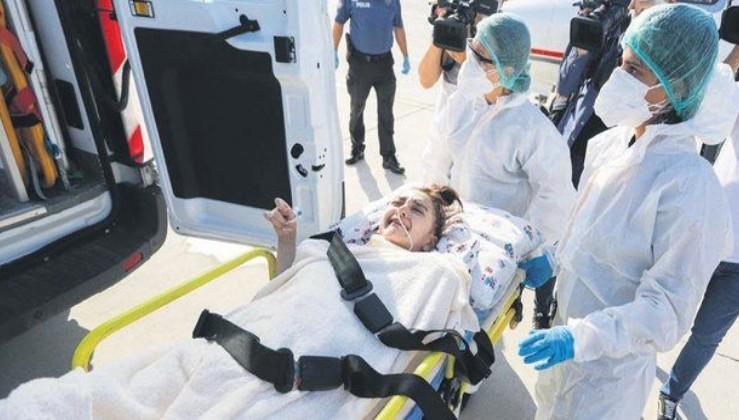 Türkmenistan'da yaşayan Nihal Naz Aydın ambulans uçakla Türkiye'ye getirildi!