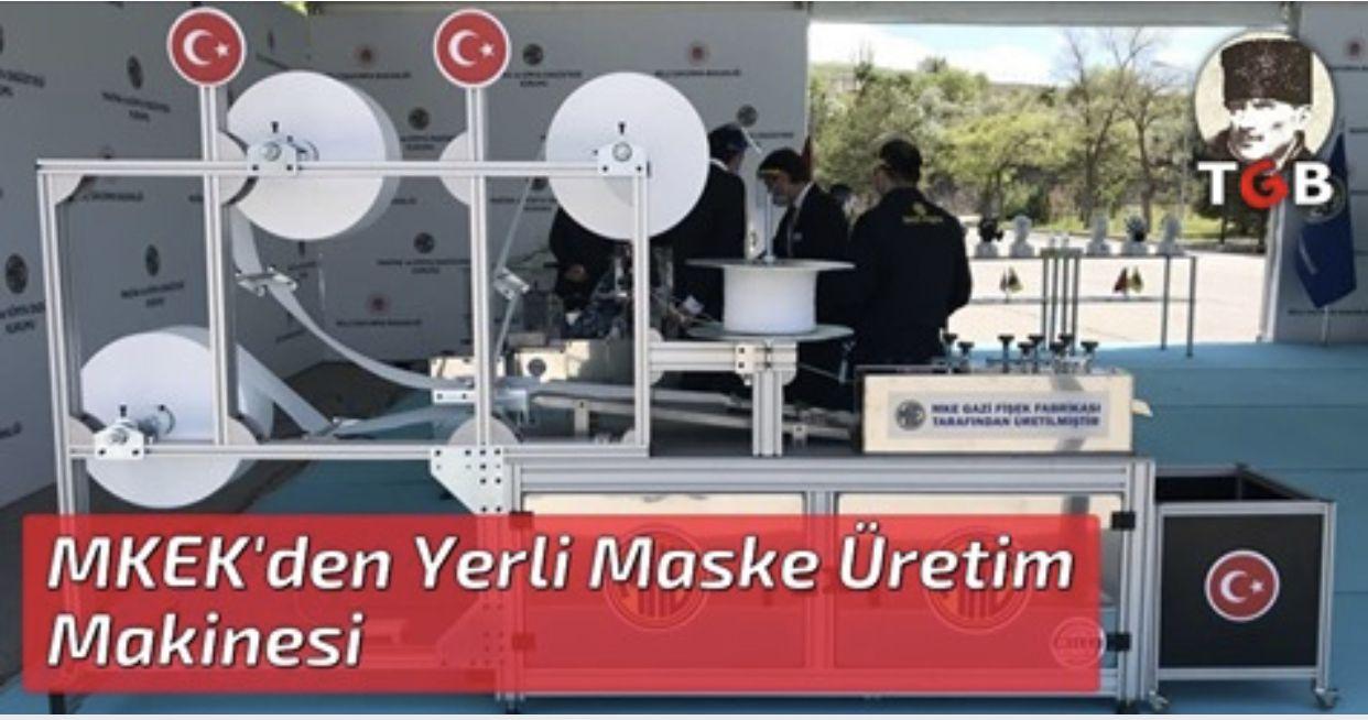 MKEK'den Yerli Maske Üretim Makinesi