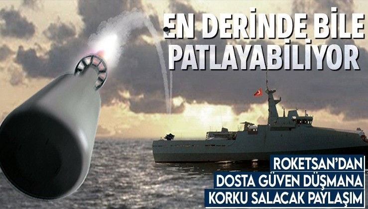 ROKETSAN paylaştı! İşte Denizaltı Savunma Harbi Roketi! İstenen her derinlikte patlayabiliyor!