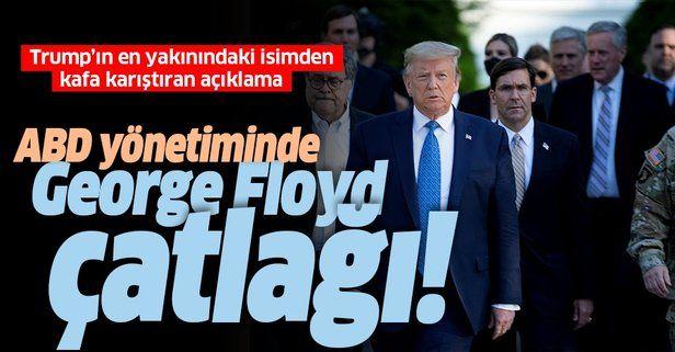 George Floyd'un ölümü ABD'yi karıştırdı! Trump'ın yakınındaki isimden kafa karıştıran açıklama