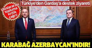 Son dakika: Bakan Çavuşoğlu ile Azerbaycanlı mevkidaşı Bayramov'dan ortak basın toplantısı