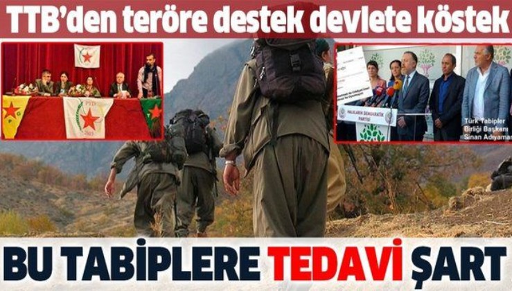 Türk Tabipler Birliği terör örgütü PKK'nın siyasi uzantısı HDP'ye hamilik yapıyor!
