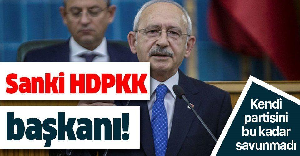 Ekrem İmamoğlu'ndan sonra bir skandal da Kılıçdaroğlu'ndan! Tutuklanan HDPKK'lıları böyle savundu!.