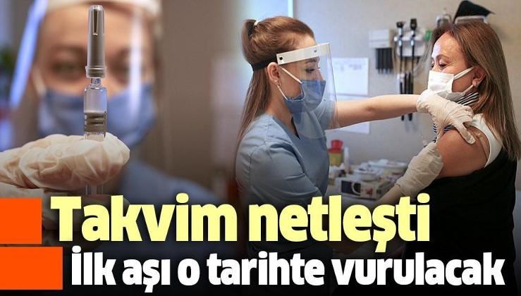 Türkiye'nin aşılama takvimi belli oldu! Aşılama o tarihte sağlık çalışanlarından başlayacak