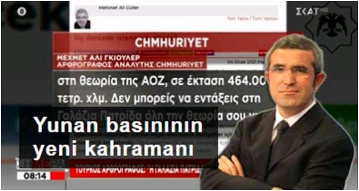Yunan basınının yeni kahramanı Mehmet Ali Güller