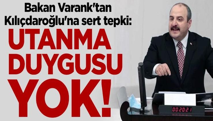 Bakan Varank'tan Kılıçdaroğlu'na sert tepki: Utanma duygusu yok