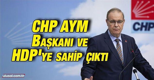 CHP AYM Başkanı ve HDP'ye sahip çıktı
