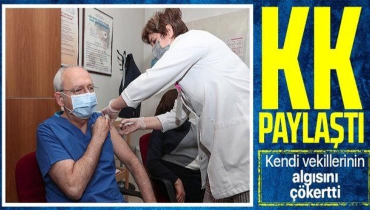Kılıçdaroğlu ikinci doz koronavirüs aşısını oldu
