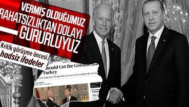 Erdoğan-Biden görüşmesi öncesi Bloomberg'den hadsiz ifadeler!