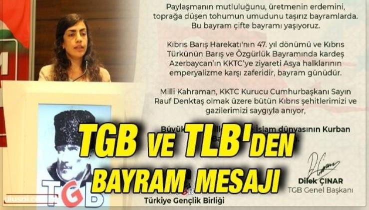 TGB ve TLB'den bayram mesajı