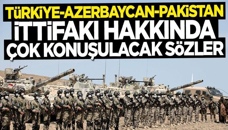 """""""Türkiye-Azerbaycan-Pakistan İttifakı"""" hakkında çarpıcı açıklama"""
