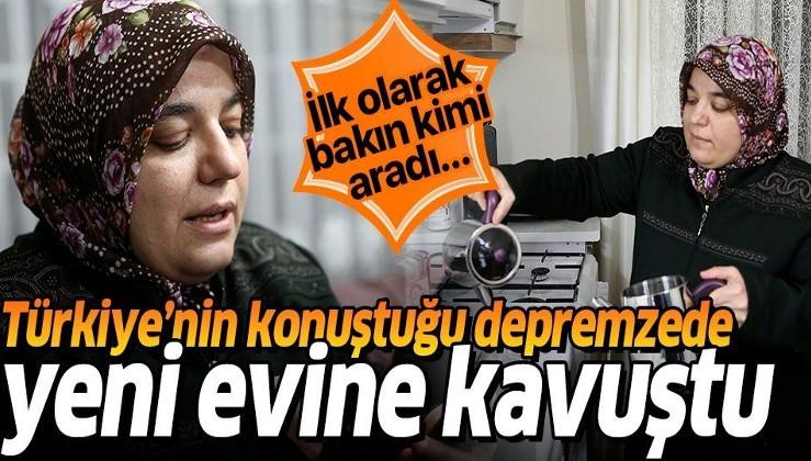 Türkiye'nin konuştuğu depremzede Azize Çelik yeni evine kavuştu