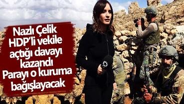 Nazlı Çelik HDP'li Abdullah Zeydan'dan kazandığı tazminatı Mehmetçik Vakfı'na bağışladı!