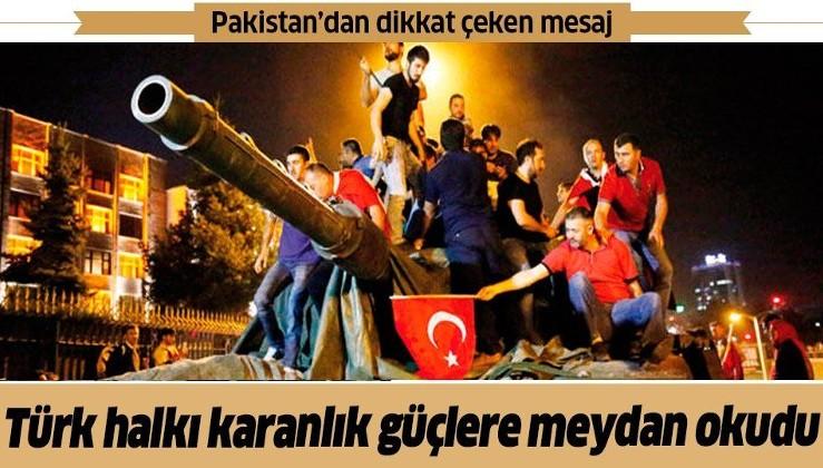 Pakistan Başkanı İmran Khan'dan '15 Temmuz' mesajı: Türk halkı karanlık güçlere meydan okudu
