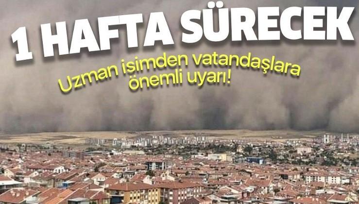 Ankara Polatlı'da etkili olmuştu! Uzman isim uyardı: Türkiye'de toz taşınımlari 1 hafta sürecek
