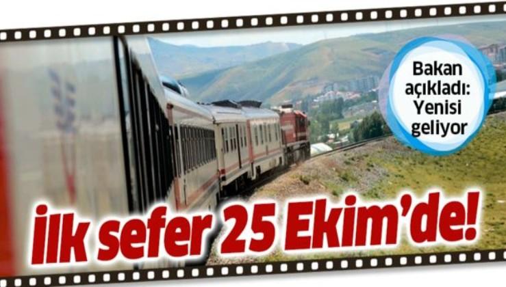 Bakan Turhan açıkladı: Doğu Ekspresi'nden sonra Göller Ekspresi hizmete giriyor.