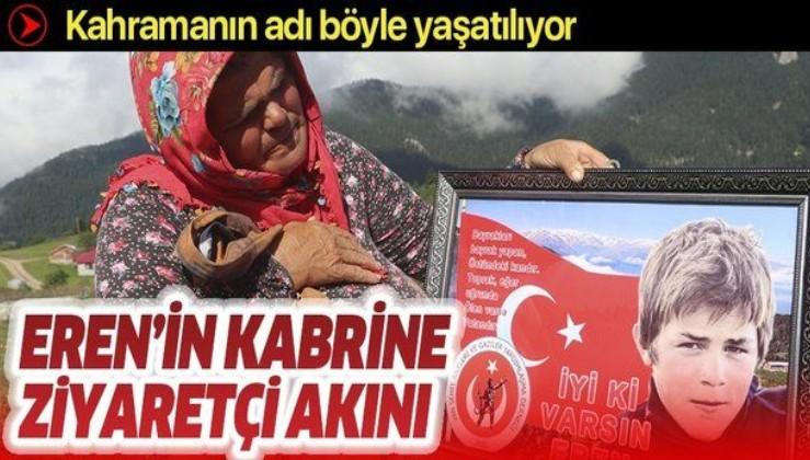 Eren Bülbül şehadetinin üçüncü yılında anılıyor! Türk bayraklı kabri hiç ziyaretçisiz kalmıyor