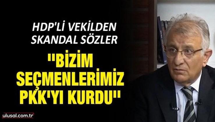 HDP'li vekilden skandal sözler: ''Bizim seçmenlerimiz PKK'yı kurdu''