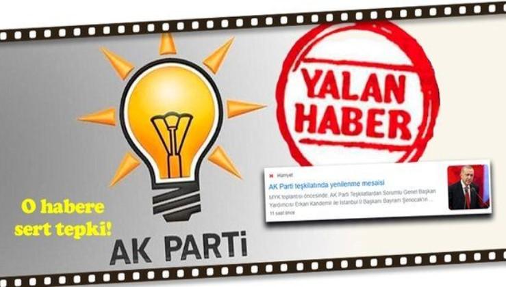 AK Parti'den Hürriyet gazetesine yalanlama: Ne ilçe başkanlarımız Ankara'ya çağırılmıştır..