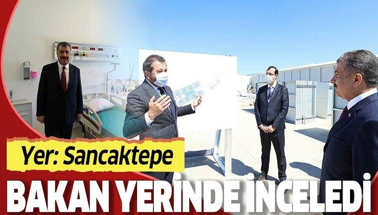 Son dakika: Sağlık Bakanı Koca'dan Sancaktepe'de yapımı süren hastanede inceleme