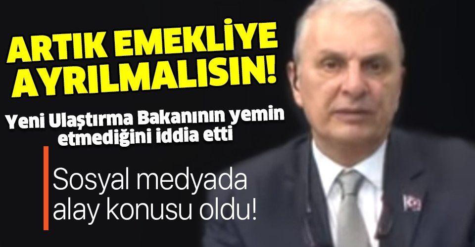 Yeni Ulaştırma ve Altyapı Bakanı Adil Karaismailoğlu'nun yemin etmediğini iddia etti!.