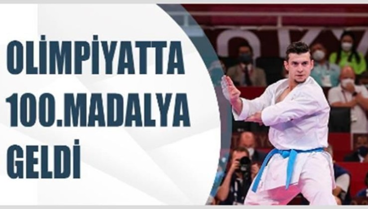 Türkiye'nin olimpiyat tarihindeki 100. madalyası geldi
