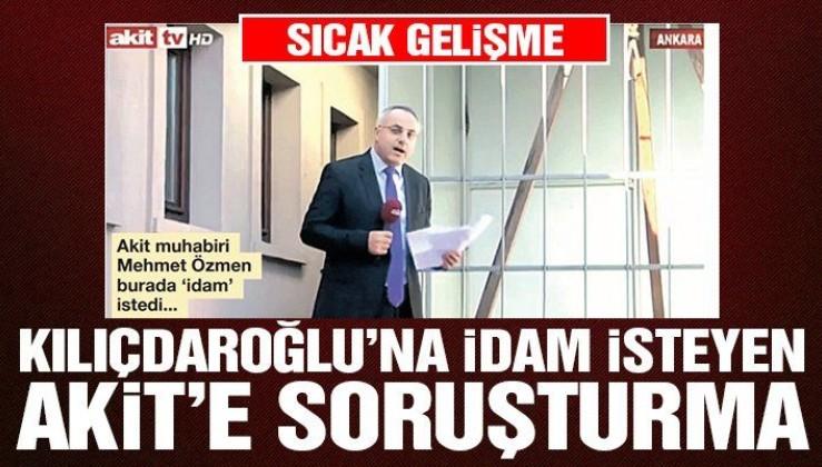 AKİT gazetesine soruşturma başlatıldı