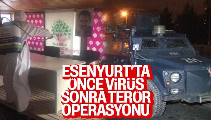 Esenyurt'ta HDP ilçe binasına operasyon