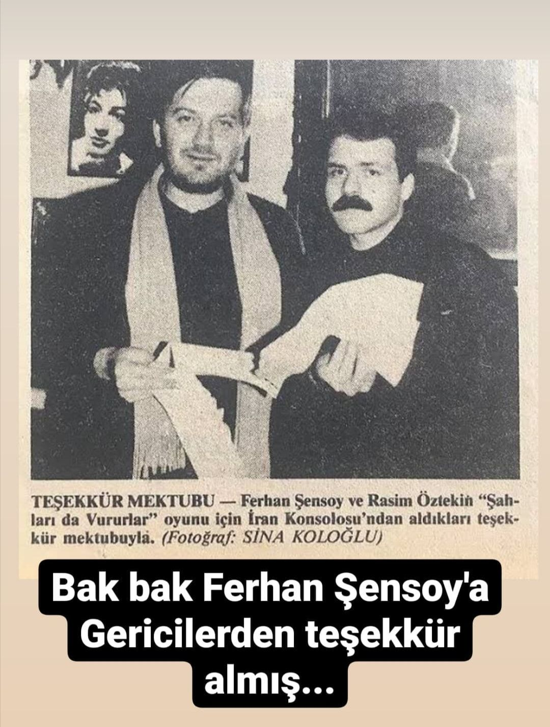 Ferhan Şensoy da mı şeriatçıymış!!!